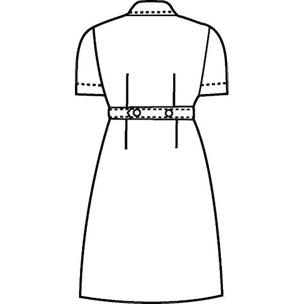 KAZEN ナースワンピース 半袖 ホワイト 3L 270-70 (直送品)