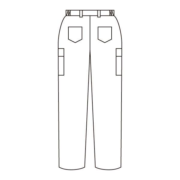 住商モンブラン メンズカーゴパンツ ホワイト L 72-881 (直送品)