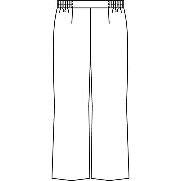 KAZEN レディススラックス 医療白衣 ホワイト 4L 194-20 (直送品)