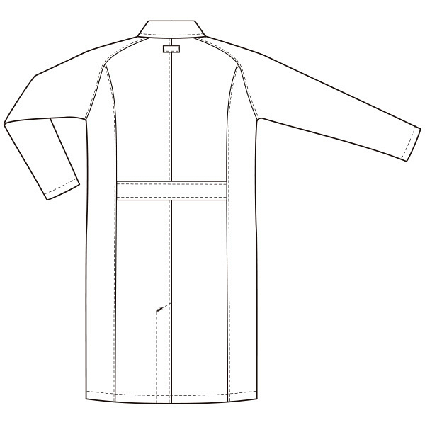 ルコックスポルティフ メンズダブル診察衣 ホワイト EL QNM4011(UQM4011) (直送品)