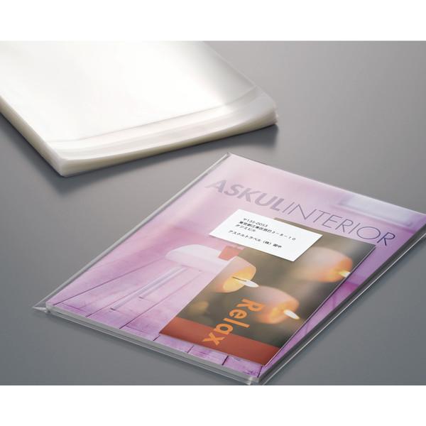 カクケイ 厚口OPP袋シール付(透明) 100枚パック A4用(225×310+40) OPP60-225 5000枚入
