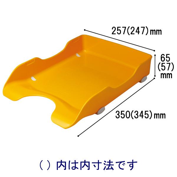 ソニック デスクトレー再生 A4タテ 黄 DA-245-Y 1袋(6個入)