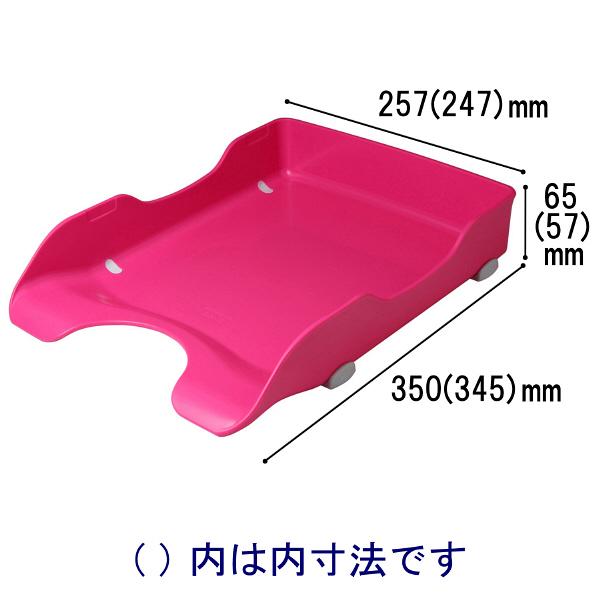 ソニック デスクトレー再生 A4タテ 桃 DA-245-P 1袋(6個入)