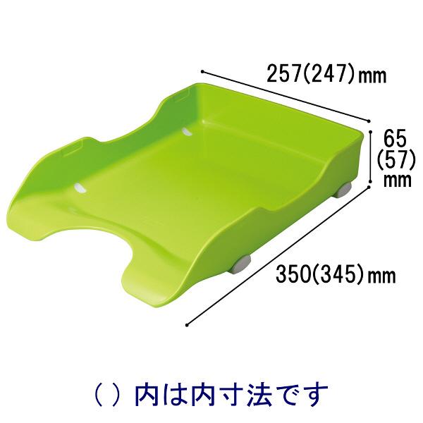 ソニック デスクトレー再生 A4タテ 緑 DA-245-G 1袋(6個入)