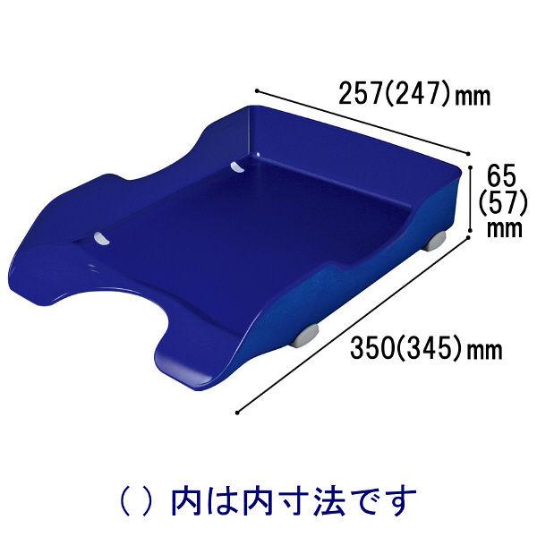 ソニック デスクトレー再生 A4タテ 青 DA-245-B 1袋(6個入)