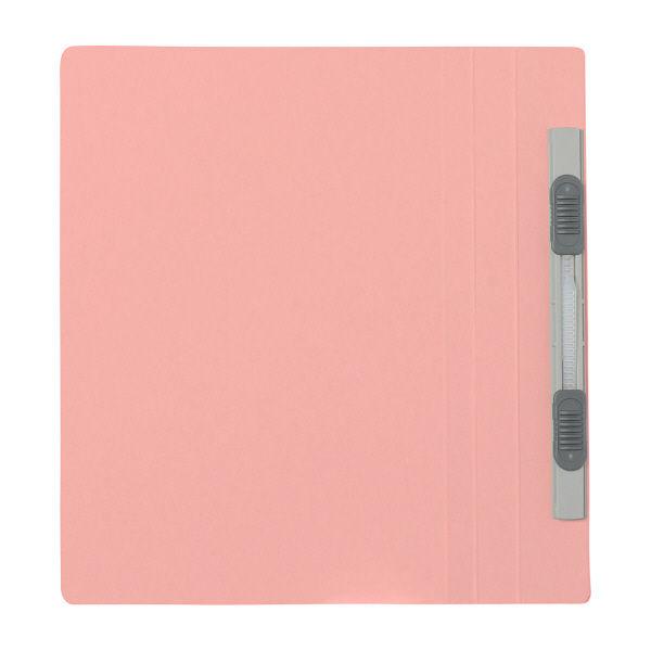 プラス フラットファイル(樹脂製とじ具) B6 タテ ピンク 2穴 No.051N 1箱(100冊:10冊入×10袋) (直送品)
