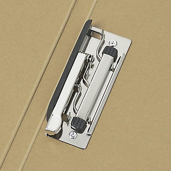 アスクル Z式パンチレスファイル A4タテ 背幅15mm ベージュ 10冊 レバーファイル シブイロ