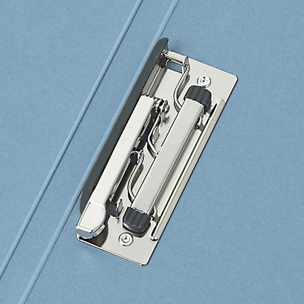 Z式パンチレスファイル A4タテ 背幅15mm 60冊 アスクル シブイロ ブルー