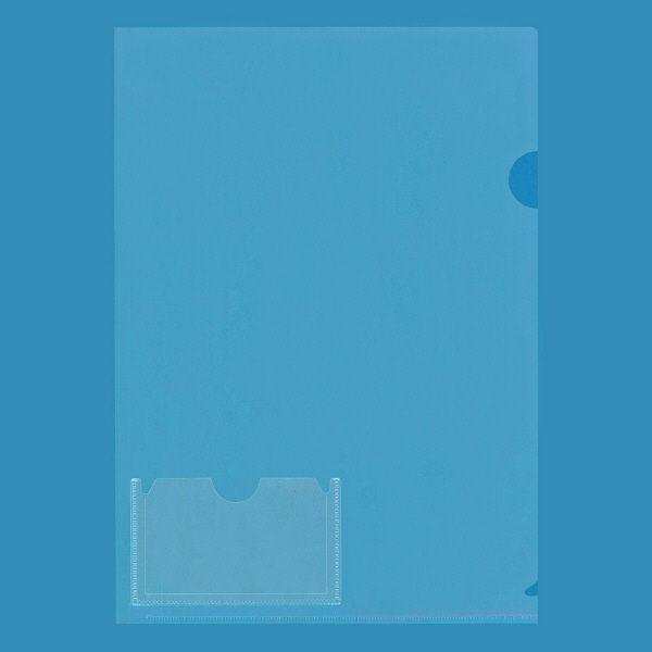 プラス カード(名刺)ポケット付きクリアーホルダー A4 88146 1箱(500枚:10枚入×50袋)