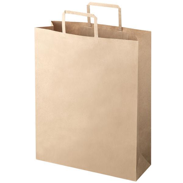 平紐 手提げ紙袋 茶 L 300枚