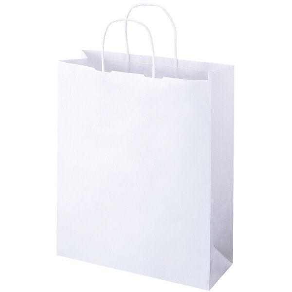丸紐 手提げ紙袋 白 L 300枚