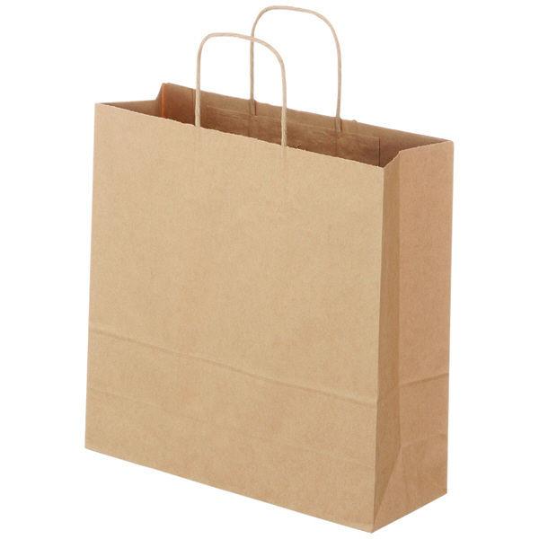 丸紐 手提げ紙袋 茶 M 300枚