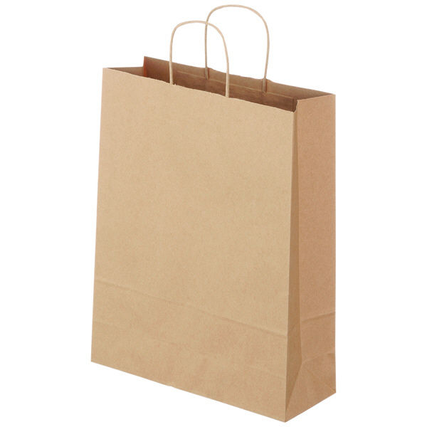 丸紐 手提げ紙袋 茶 L 300枚