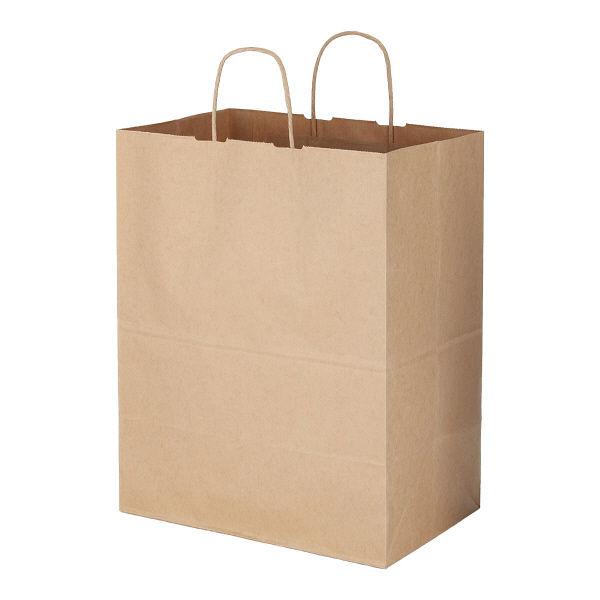 丸紐 手提げ紙袋 茶 L 600枚
