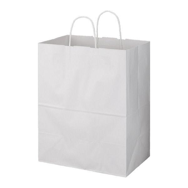 丸紐 手提げ紙袋 白 L 200枚