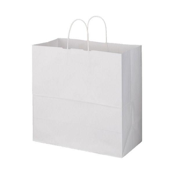 丸紐 手提げ紙袋 白 LL 200枚