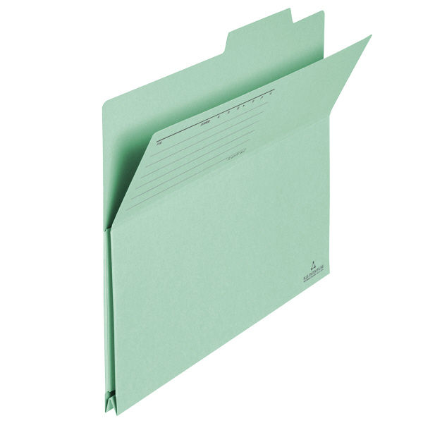 プラス フォルダー(持ち出しフォルダー) グリーン A4 FLー001PF 1袋(10枚入) (直送品)
