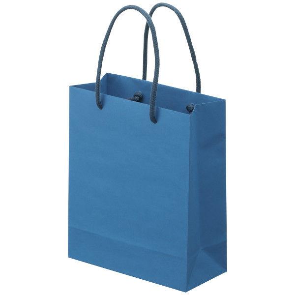 丸紐 手提げ紙袋 藍色 SS 25枚