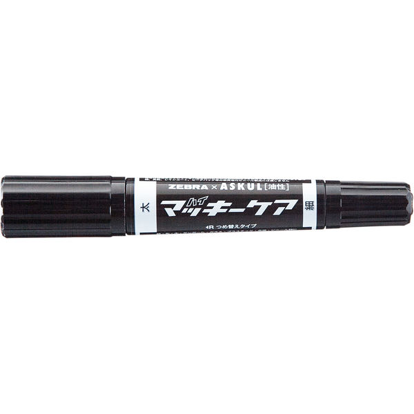 ハイマッキーケア 太字/細字 詰め替えタイプ(アスクル限定モデル) 黒 10本 油性ペン ゼブラ
