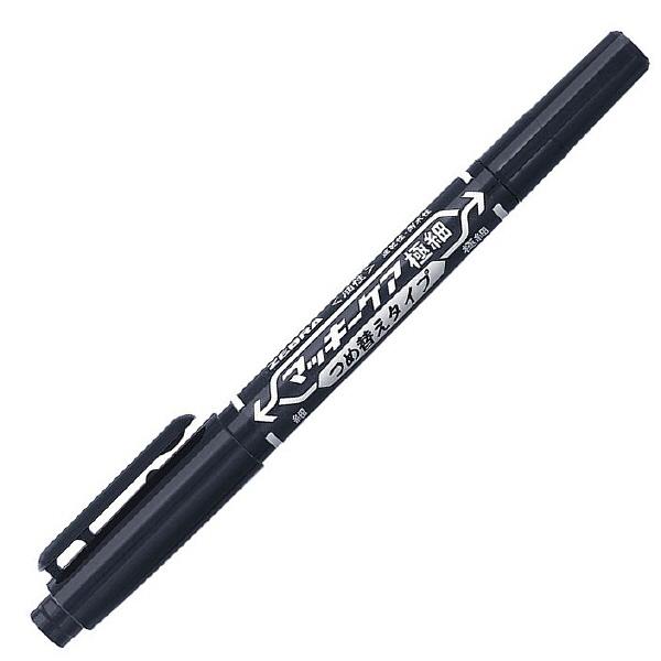マッキーケア 詰め替えタイプ本体 細字/極細 黒 5本 油性ペン ゼブラ