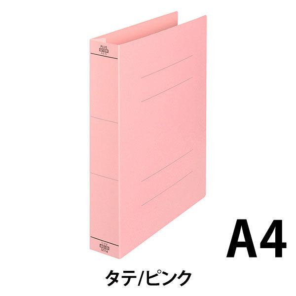 プラス フラットファイル厚とじ500 A4タテ ピンク 87988 1セット(50冊:10冊入×5袋)