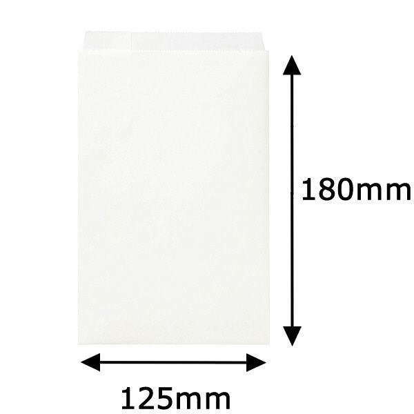 紙平袋 白 小 1000枚