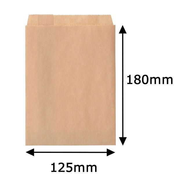 紙平袋 茶 小 1000枚
