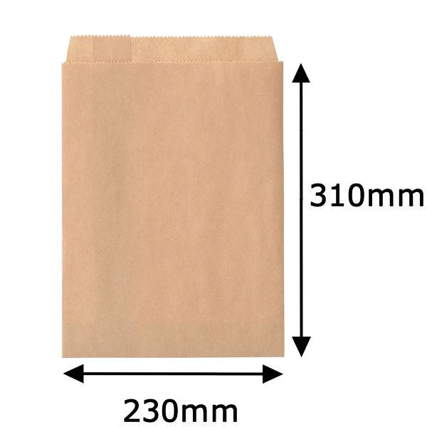 紙平袋 茶 大 1000枚