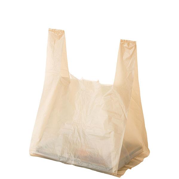 レジ袋弁当用 ベージュ 大 1セット(500枚:100枚入×5袋) 伊藤忠リーテイルリンク