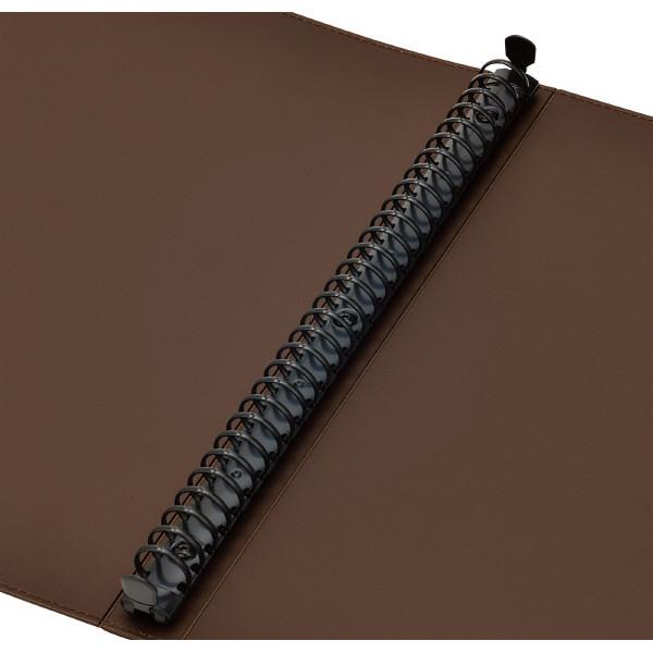 キングジム レザフェス 名刺ホルダー(差し替え式) A4タテ 赤 1913LFアカ 1セット(3冊)