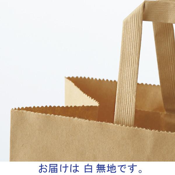 平紐 手提げ紙袋 白 L 50枚