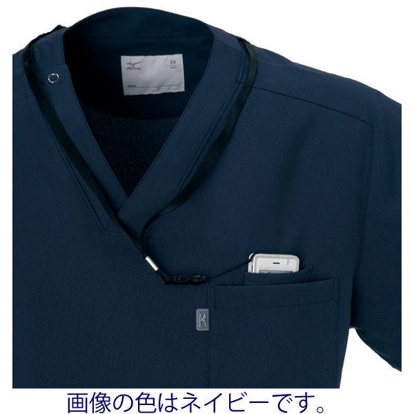 ミズノ ユナイト スクラブ(男女兼用) ダークグリーン SS MZ0021 医療白衣 1枚 (取寄品)