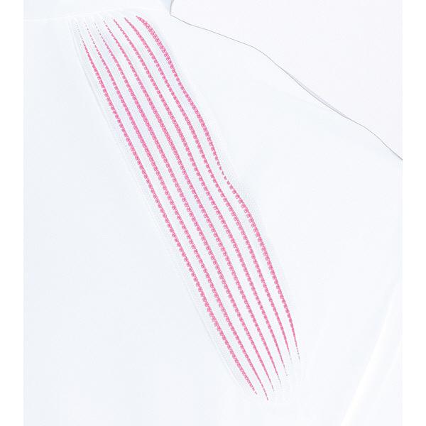 ミズノ ユナイト ケーシージャケット(女性用) ホワイト×ピンク M MZ0081 医療白衣 ナースジャケット 1枚 (取寄品)
