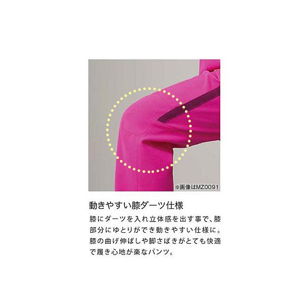 ミズノ ユナイト スクラブパンツ(男女兼用) ネイビー×ホワイト 4L MZ0091 医療白衣 1枚 (取寄品)