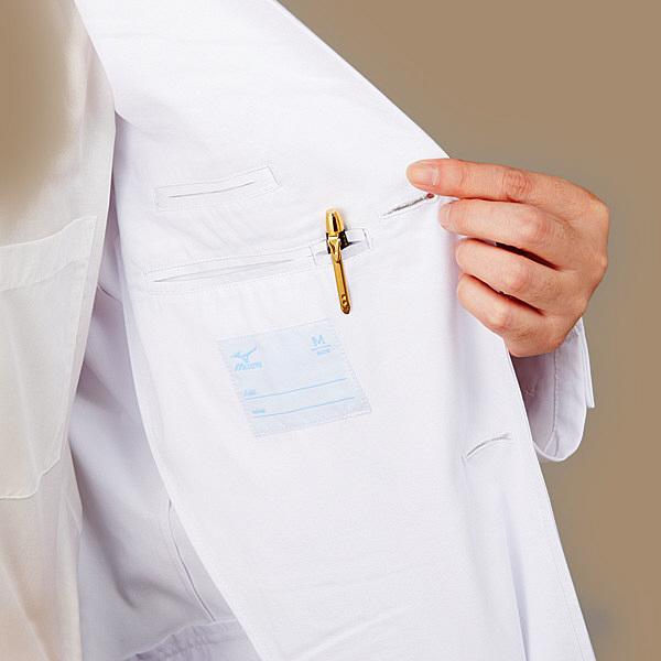 ミズノ ユナイト ドクターコート(男性用) ホワイト 3L MZ0108 医療白衣 診察衣 薬局衣 1枚 (取寄品)