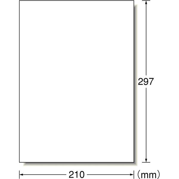 【大容量】 エーワン PPCラベルシール 表示・宛名ラベル コピー用 マット紙 白 A4 ノーカット1面 1箱(500シート入) 28762(取寄品)