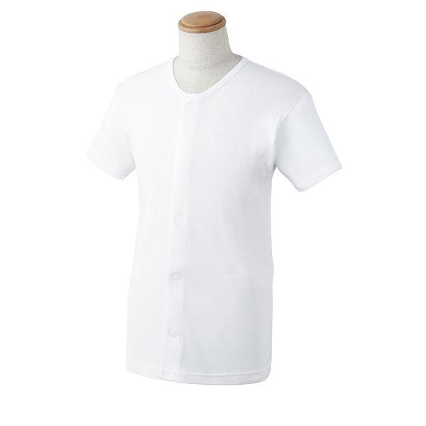 ワンタッチ肌着 半袖 男性用 L 077-857020-00 1セット(3枚) 川本産業 (取寄品)