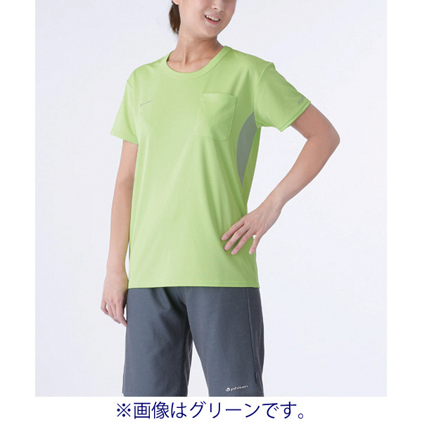 フットマーク×ファイテン 介護ウェア Tシャツ ピンク LL (取寄品)