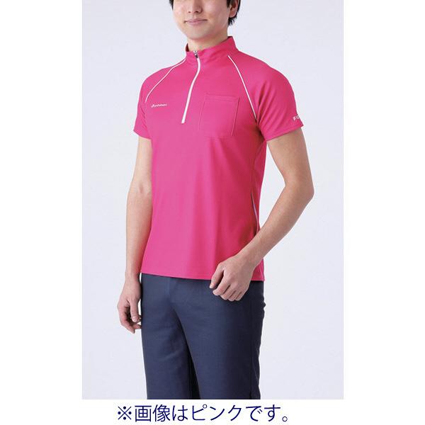 フットマーク 介護ウェア ジップアップシャツ グリーン S (取寄品)
