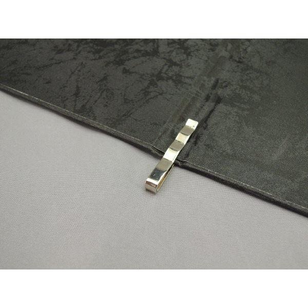 スマイル 光沢メニューファイル表紙 黒 P-735530