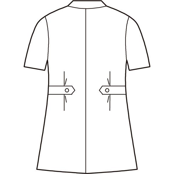 ナースジャケット(ベーシック) 861346-001 ホワイト L