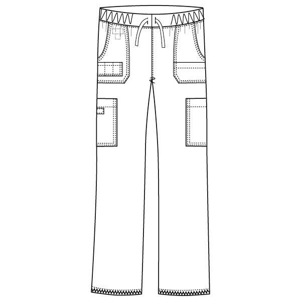 フォーク ディッキーズ カーゴパンツ(男女兼用) 5017SC-2 ブルーストレーキ 4L スクラブパンツ (取寄品)