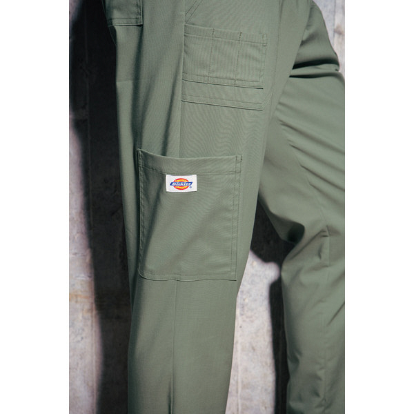 フォーク ディッキーズ カーゴパンツ(男女兼用) 5017SC-8 ミルカーマイン LL スクラブパンツ (取寄品)