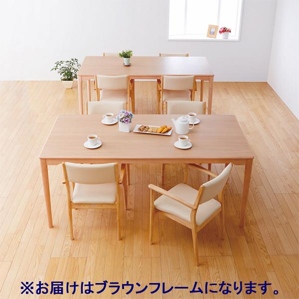 コイズミファニテック 介護施設用椅子 GMC-R1-VE-B ベージュ/ブラウン