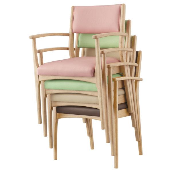 コイズミファニテック 介護施設用椅子 GMC-R1-VE-N ベージュ/ナチュラル