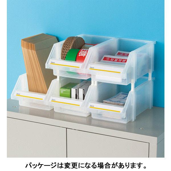 組み合わせ収納ボックス クリア L