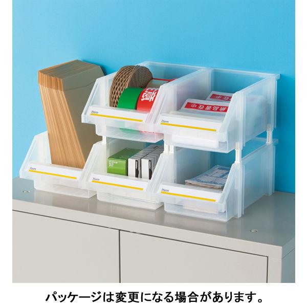 現場のチカラ 組み合わせ収納ボックス クリア L 1セット(4個)