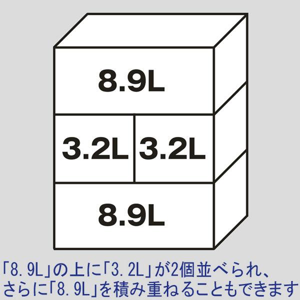 「現場のチカラ」 ASコンテナ 9L クリア 1箱(10個入)