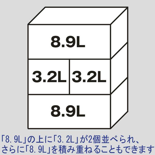 「現場のチカラ」 ASコンテナ 3L クリア 1箱(20個入)