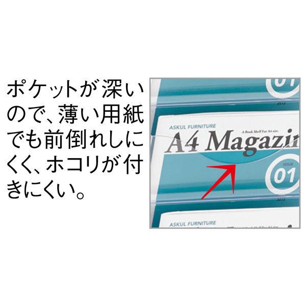 トヨダプロダクツ 樹脂ポケット付パンフレットスタンド 2列 PS-210CN 1台